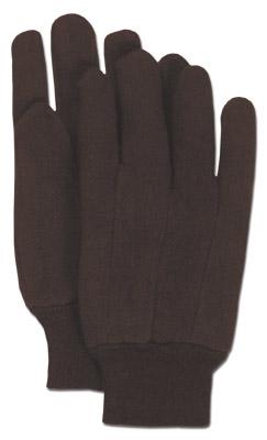 Brown Jersey Glove Knit Wrist